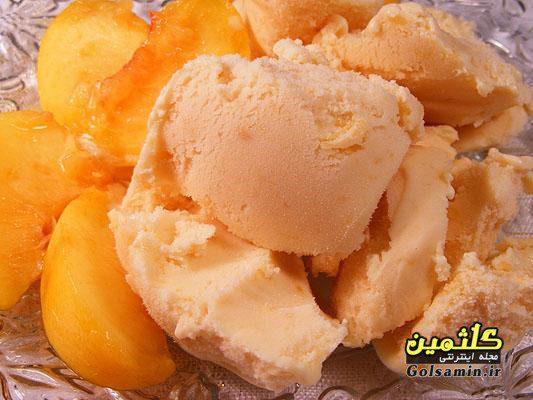 بستنی هلو با خامه, طرز تهیه بستنی هلو