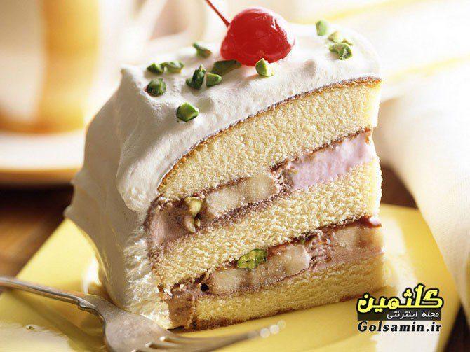 کیک بستنی, بستنی ، دسر