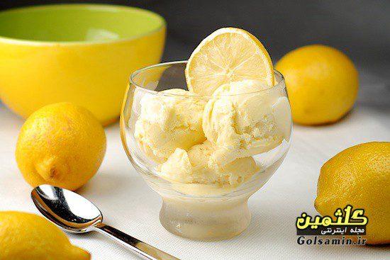 بستنی لیمو ترش, بستنی ، دسر