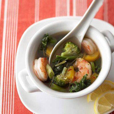 طرز تهیه سوپ میگو با سس لیمو-کنجد, تهیه سوپ پیاز