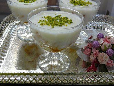 طرزتهیه عیش السرایا (دسر عربی), بستنی ، دسر
