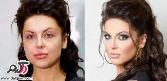 عكس دختران قبل و بعد از آرايش, عکس عجیب