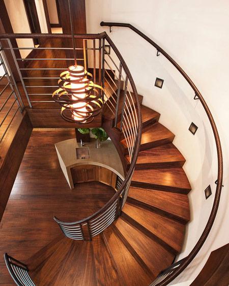 دکوراسیون و چیدمان پله های گرد,طراحی داخلی خانه