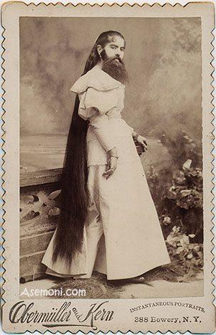 زنی با صورتی پر از مو, ماورای طبیعت
