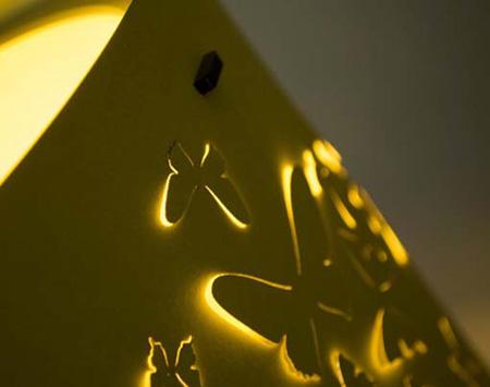 کاغذ دیواری هایی با قابلیت نور دهی,روشنایی های دکوراتیو برای فضای بیرونی