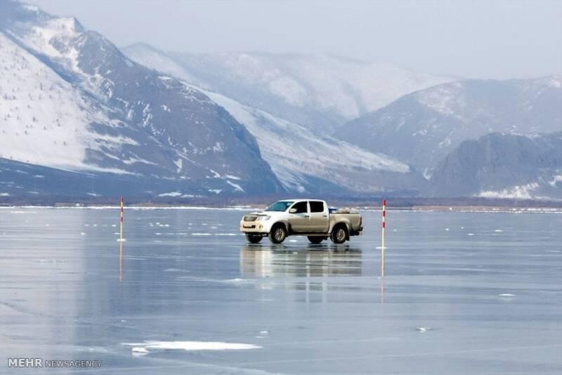 تصاویر شکوه زمستانی دریاچه بایکال, طبیعت