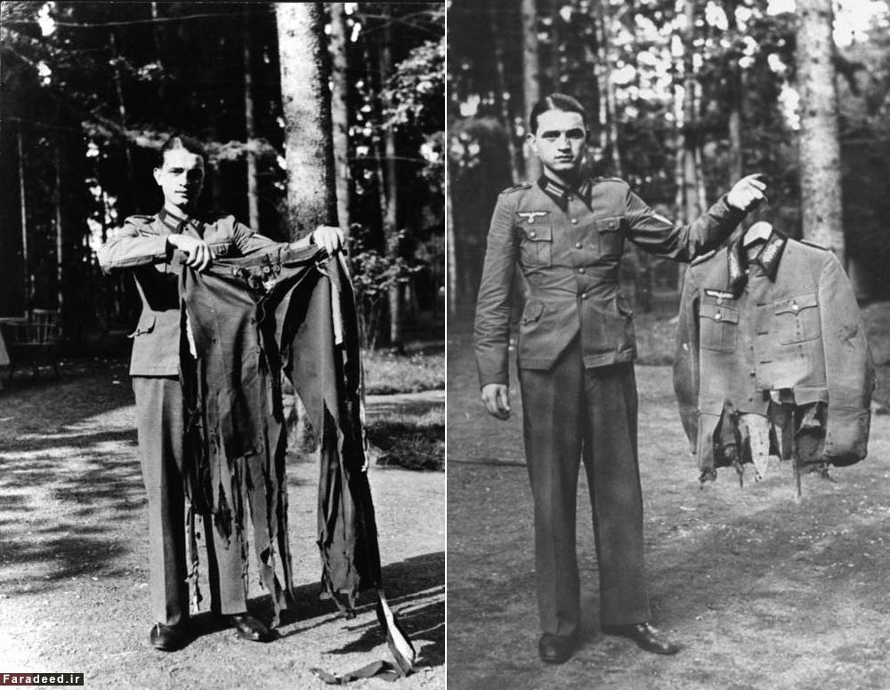 شلوارِ پارۀ هیتلر پس از سوءقصد نافرجام