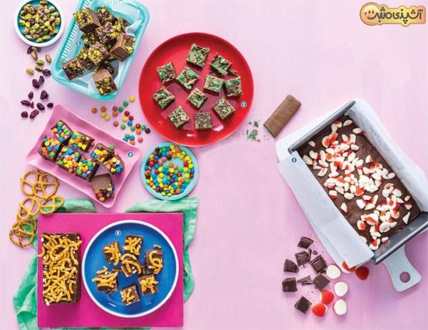 10 شکلات دست ساز( فاج) رنگارنگ (1)