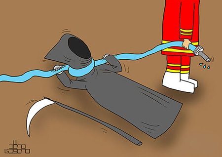 کاریکاتور روز آتش نشان, طنز و کاریکاتور