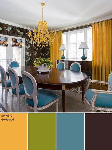 دکوراسیون و چیدمان خانه به رنگ های پاییزی,ترکیب های رنگ پاییزی