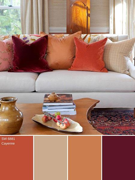 شناخت رنگ های پاییزی, دکوراسیون خانه با رنگ های پاییزی