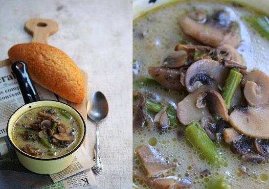 سوپ قارچ و مارچوبه