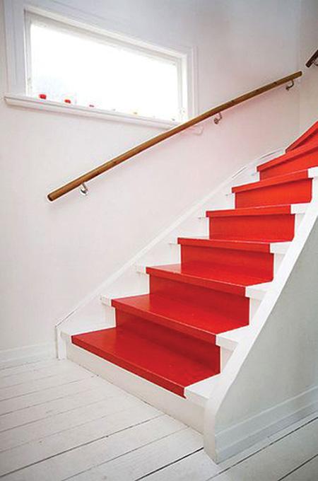 رنگ آمیزی پله ها,تغییر دکوراسیون پله ها