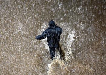 مراسم چل کچلون, آداب و رسوم, بندآمدن باران