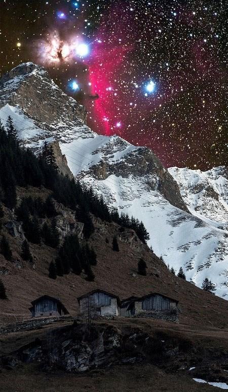 عکس های آسمان زیبا و ترسناک روستای والس در سوئیس