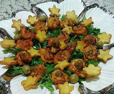 طرز تهیه رول مرغ انگشتی با سبزیجات,نحوه درست کردن رول مرغ انگشتی با سبزیجات