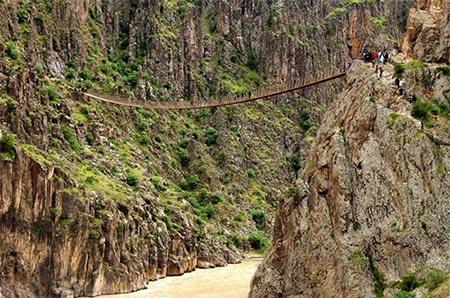 پل معلق پیر تقی کجاست،تصاویر پل معلق پیر تقی