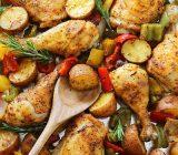 طرز تهیه مرغ و سیب زمینی تنوری