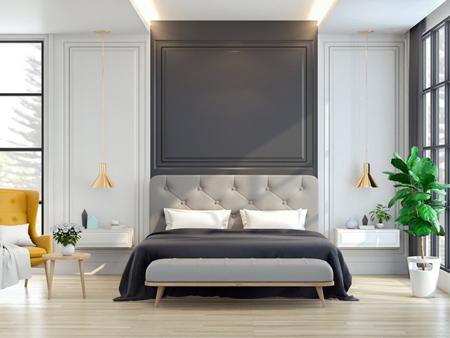 رنگ های مناسب دیوارهای ساده,دیوارهای اتاق خواب
