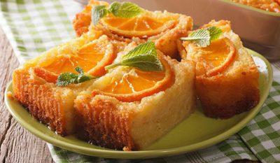 پخت کیک پرتقال یونانی, مواد لازم برای کیک پرتقال یونانی