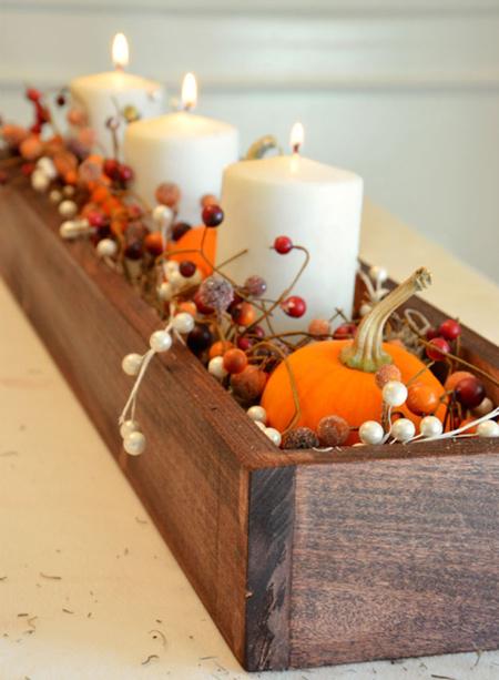 تزیین میز در فصل پاییز,چیدمان پاییزی خانه