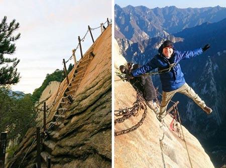 خطرناک ترین پله ها,پله های خطرناک,جاده بهشت