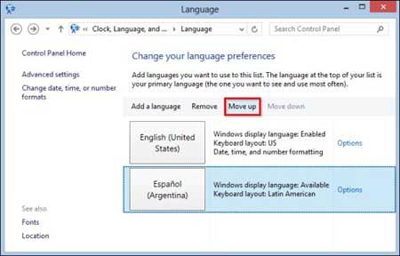 ترفند فارسی کردن زبان ویندوز, تغییر زبان ویندوز