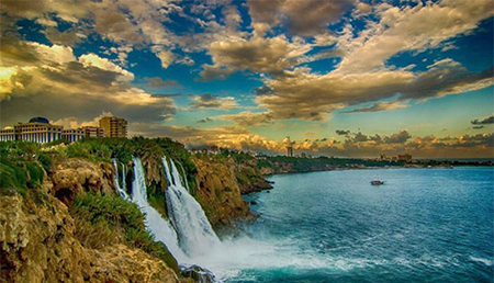 آبشار دودن در آنتالیا,آنتالیا,جاهای دیدنی آنتالیا