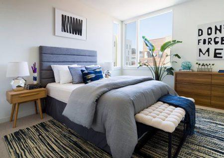 بزرگ نشان دادن فضای اتاق خواب, چیدمان