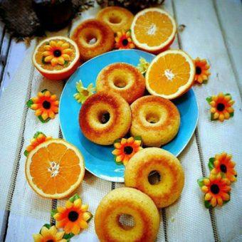 طرز تهیه دونات پرتقالی