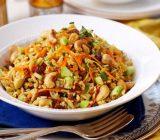 سالاد برنج هندی؛ غذایی گیاهی و مقوی
