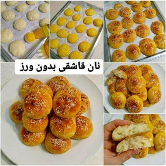 طرز تهیه نان قاشقی