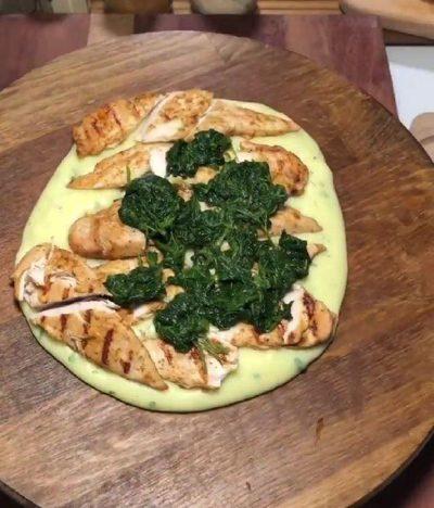 طرز تهیه فیله مرغ با پوره سیب زمینی و اسفناج, آشپزی