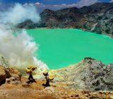 پدیده ای عجیب در آتشفشان ایجن (+تصاویر)