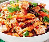 آموزش مرحله به مرحله تهیه پاستا ایتالیایی تن ماهی