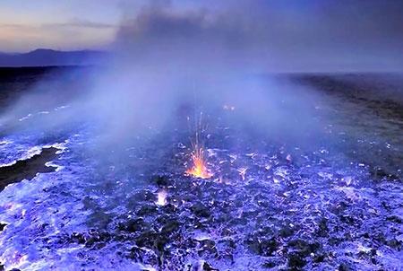 آتشفشان ایجن,آتشفشان ایجن در اندونزی,عکس های آتشفشان ایجن