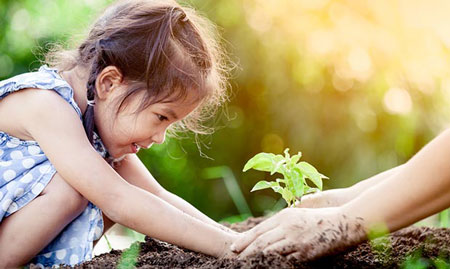طبیعت منبع الهام و اکتشاف کودک