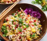 برنج سرخ کرده هاوایی؛ تنوعی از رنگها و مزهها