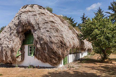 خانه هایی جالب با سقفی از جلبک (+تصاویر), گردشگری