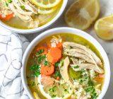 طرز تهیه سوپ جوجه لیمویی