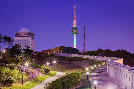 جاهای دیدنی کره جنوبی,عکس جاهای دیدنی کره جنوبی,برج سئول