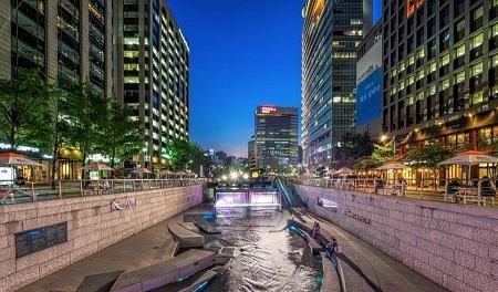 طبیعت کره جنوبی,جاهای دیدنی کره جنوبی,رود چونگ گیه چون